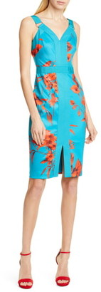 Ted Baker Jordja Fantasia Panel Body-Con Dress