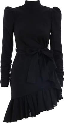 Zimmermann Asymmetric Flounce Mini Dress