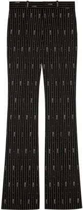 Gucci stripe fil coupé wool pants