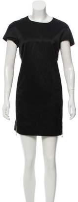 Versace Satin Zipper Dress