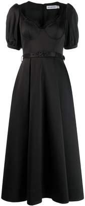 Self-Portrait bustier top midi dress