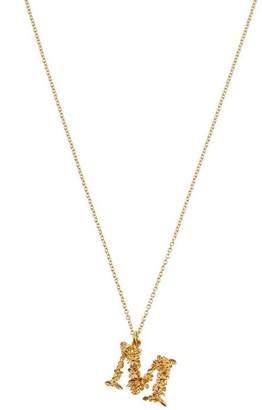 Alex Monroe Gold-Plated Floral Letter M Alphabet Necklace
