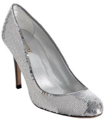Report Signature silver sequined 'Celine' pumps