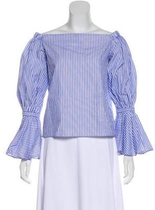 Alexis Long-Sleeve Off-The-Shoulder Top