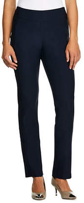 Haggar Petite Bengaline Pull-On Slim-Fit Pants