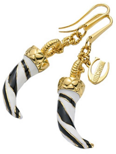 Just Cavalli Animal Print Fang Earrings