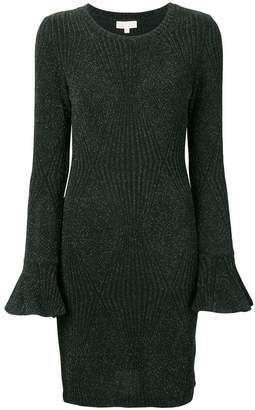 MICHAEL Michael Kors metallic fitted dress