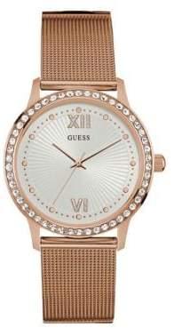GUESS Dress Analog W0766L3 Steel Mesh Watch