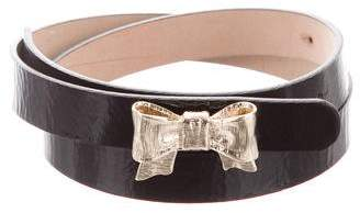 RED Valentino Patent Leather Bow Belt