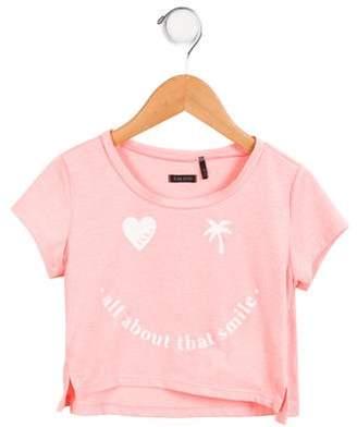 Ikks Girls' Printed Short Sleeve Top