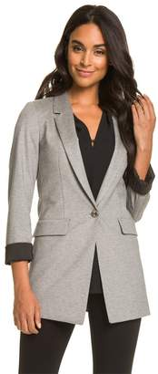 Le Château Women's Classic Ponte Notch Collar Blazer,S