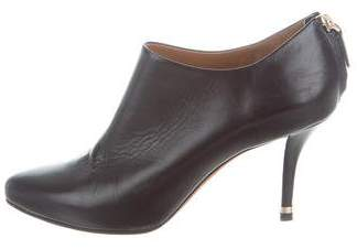 Givenchy Leather Semi Pointed-Toe Booties