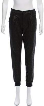 Mother Textured Mid-Rise Pants