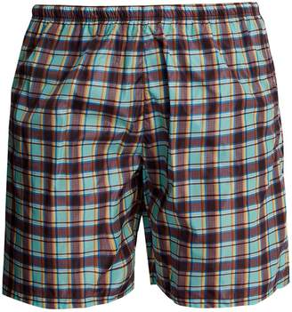 Prada Checked swim shorts