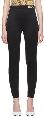 Prada Black Zipped Leggings