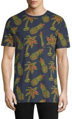 Wesc Maxwell Pineapple All Over Print Graphic Cotton T-Shirt