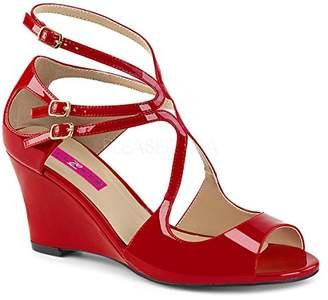 Pleaser USA Pink Label Women's Kim04/r Wedge Sandal