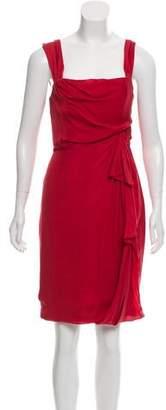 J. Mendel Cap Sleeve Knee-Length Dress