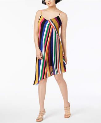 Bar III Striped Asymmetrical Dress, Created for Macy's