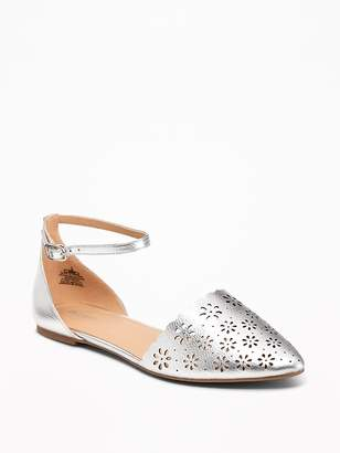 Old Navy Laser-Cut Pointy-Toe Flats for Women