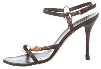Gucci Leather Bamboo Sandals