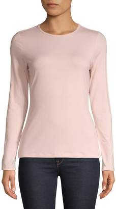 Lord & Taylor Long Seeve Solid Pullover Top
