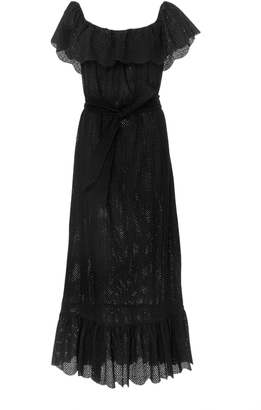 Marysia Swim Off-The-Shoulder Lace Dress $650 thestylecure.com