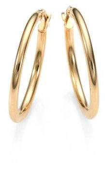 Roberto Coin 18K Yellow Gold Oval Hoop Earrings/1 $440 thestylecure.com