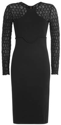 Roland Mouret Knit Dress with Patterned Sleeves