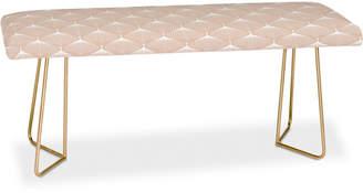 Deny Designs Caroline Okun Pale Pink Spring Bulbs Bench