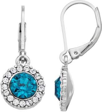 Dana Buchman Round Halo Drop Earrings