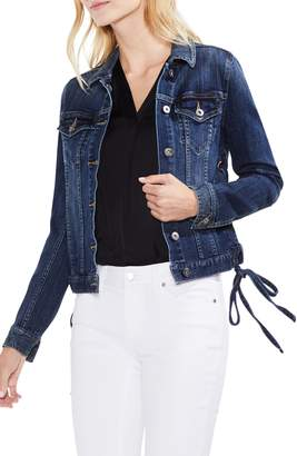 Vince Camuto Lace-Up Side Indigo Denim Jacket