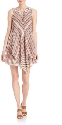 Derek Lam 10 Crosby Lace-Up Layered Silk Dress