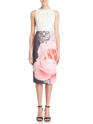 Ted Baker Printed Skirt Sheath Dress