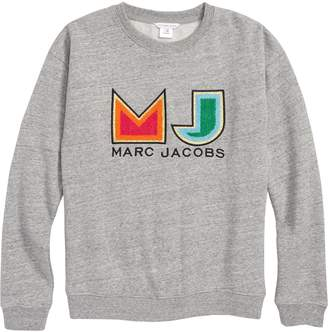 Little Marc Jacobs Logo Applique Sweatshirt