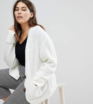Asos Knitted Cardigan in Oversized Rib with Buttons
