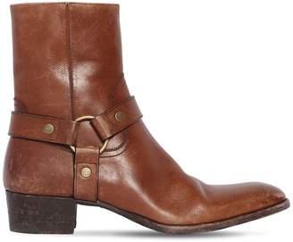 Saint Laurent 40mm Wyatt Vintage Leather Boots