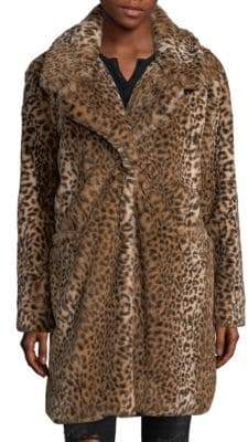 C&C California Faux Fur Cheetah Coat