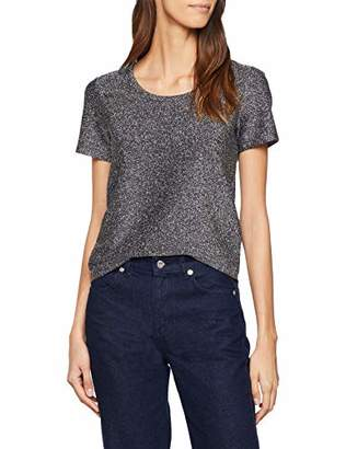 754639a05dc717 Scotch & Soda Maison Women's Short Sleeve Lurex Tee T-Shirt,Small
