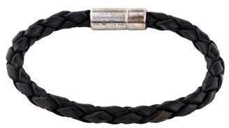 Tateossian Braided Leather Wrap Bracelet