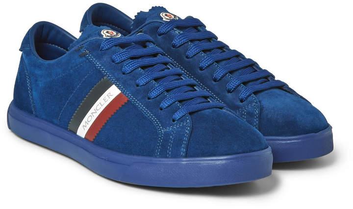 Moncler La Monaco Leather-Trimmed Suede Sneakers