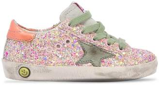 Golden Goose Super Star Glittered Sneakers