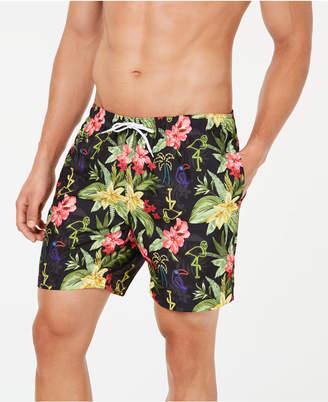 "Trunks Surf & Swim Co. Men's Neon Hawaiian Print 7"" Swim"
