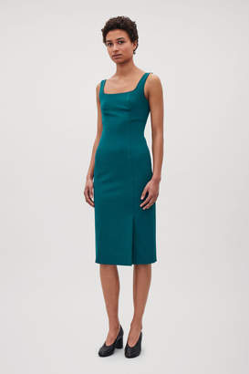 Cos SQUARE-NECK TAILORED DRESS