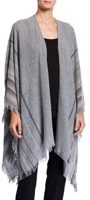 Eileen Fisher Mix Stripe Wool Serape