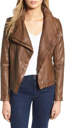 LAMARQUE Funnel Neck Moto Jacket
