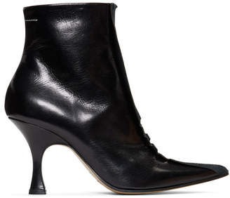MM6 MAISON MARGIELA Black Point Toe Boots