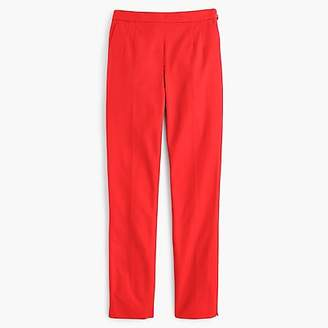 J.Crew Martie slim crop pant in stretch cotton with side zip