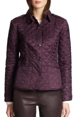 Burberry Kencott Quilted Jacket $595 thestylecure.com