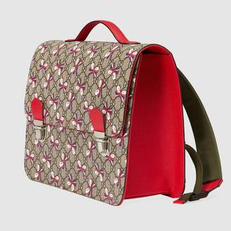Gucci Children's GG Sylvie bow backpack